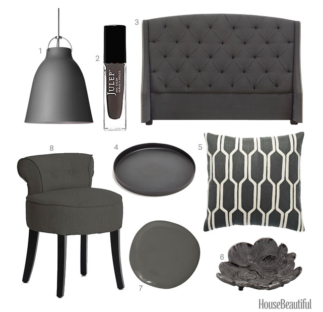 Charcoal gray home accessories dark gray home decor for Home decor and accessories