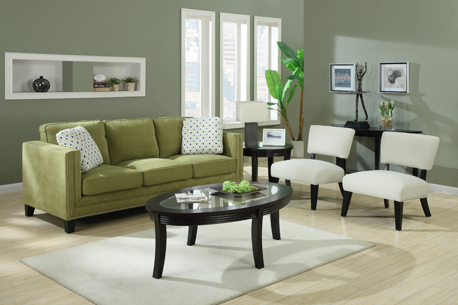 emerald home furnishings carlton sofa and love seat available in grey or apple green plus accent. Black Bedroom Furniture Sets. Home Design Ideas
